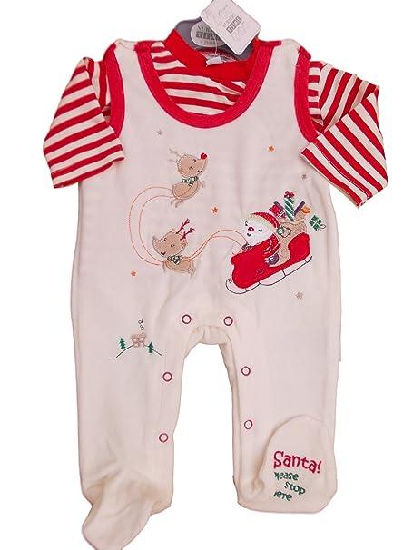 Terciopelo de Navidad Tiny bebé Unisex 2 Piezas Pijama Ropa NB 0 – 3 M 3