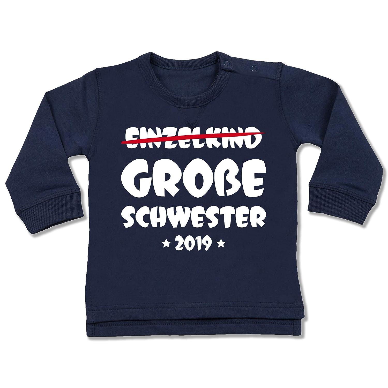 Baby T-Shirt Langarm Ich werde gro/ße Schwester Geschwisterliebe Baby Shirtracer