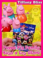Peppa Pig Family Buys a Toy Store and Disney Lego Mini Figures Blind Bags Review
