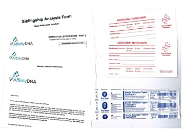 Sibling DNA Testing Kit - NO Extra FEES - 18 Loci Test for 2  Brothers/Sisters - Home Swab Test DNA Sample Collection Kit - Results in 5  Working Days
