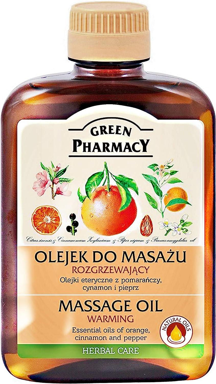 Aceite de masaje caliente (Canela, Pimienta negra y naranja) con base de aceite de almendras 200 ml. Sin parabenos ni colorantes