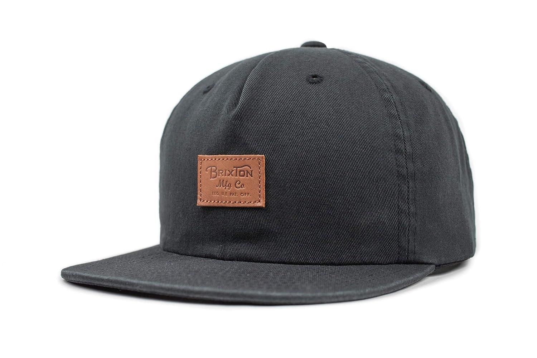 4d62e044c40de Brixton Men s Grade Ii Medium Profile Adjustable Unstructured Snapback Hat  Newsie Cap