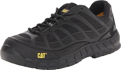 CAT Shoes Men/'s Composite Toe EH Non-Metal Streamline Work Shoes RED//BLACK