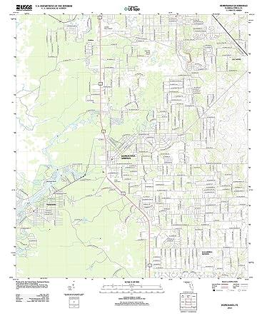 Homosassa Florida Map.Amazon Com Florida Maps 2012 Homosassa Fl Usgs Historical