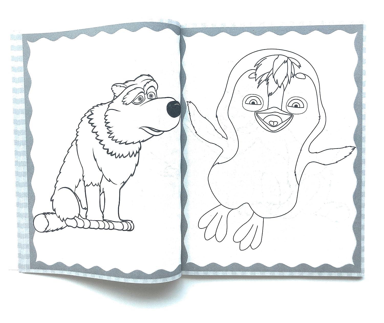 Masha Y El Oso Libo Para Colorear 80 Páginas Incluye Personajes