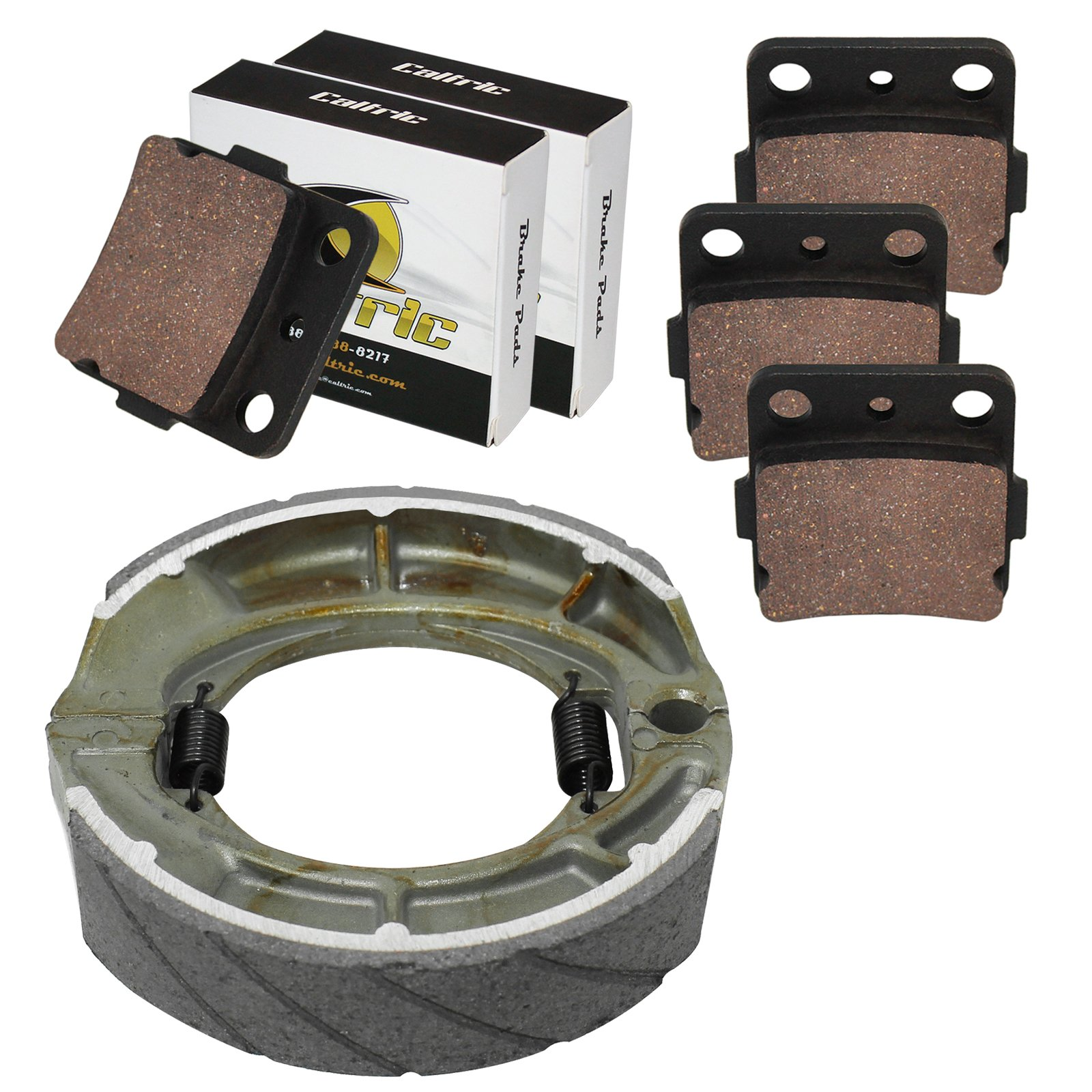 CALTRIC FRONT BRAKE PADS and REAR BRAKE SHOES Fits SUZUKI LT-F250 Ozark 250 2007-2014