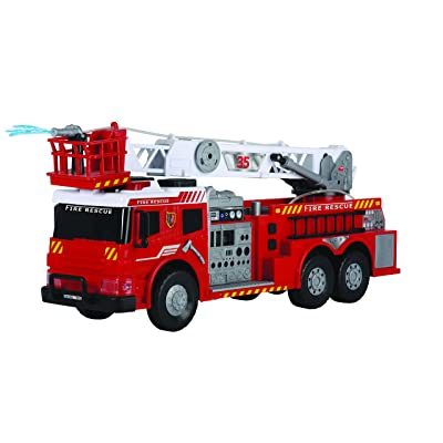 "Dickie Toys 24"" Light and Sound Fire Brigade Vehicle (With Working Pump): Toys & Games"