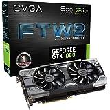 EVGA GeForce GTX 1080 FTW2 11Gbps GAMING, 8GB 11GHz GDDR5X, iCX - 9 Thermal Sensors & RGB LED G/P/M Graphics Card 08G-P4-6686-KR