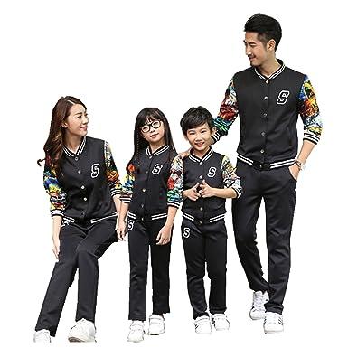 Mchild 親子お揃い服 デザイン が かっこいい カムフラージュスポーツ スウェットシャツ パンツ 上下セット メンズ