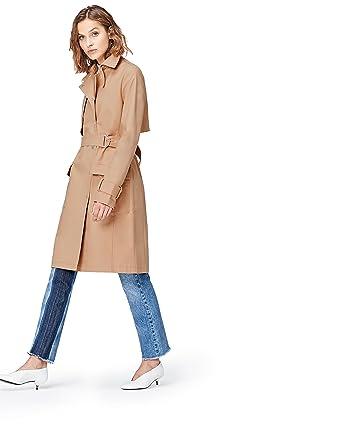 Find Damen Trench Coat Mit Asymmetrischen Details Amazonde Bekleidung