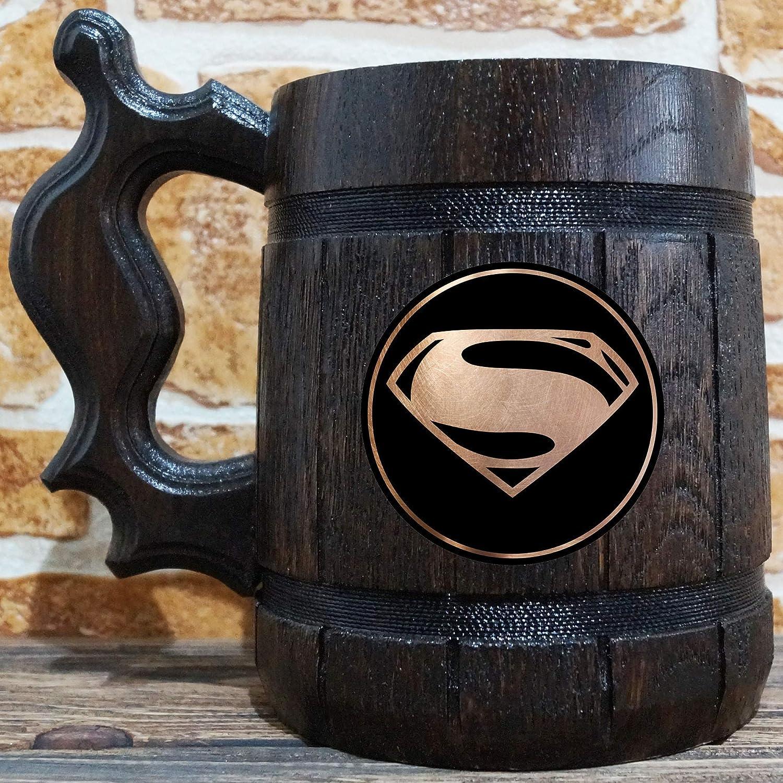 Superman Comics Beer Mug, Superman Stein, DC Comics Fan Wedding Gift, Personalized Stein, Gifts For Him, Superman Custom Gift for Men