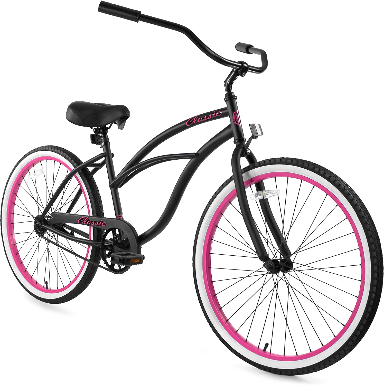 "ZF 26/"" Beach Cruiser Bike Bicycle Classic Men 7 speed Matte Black"