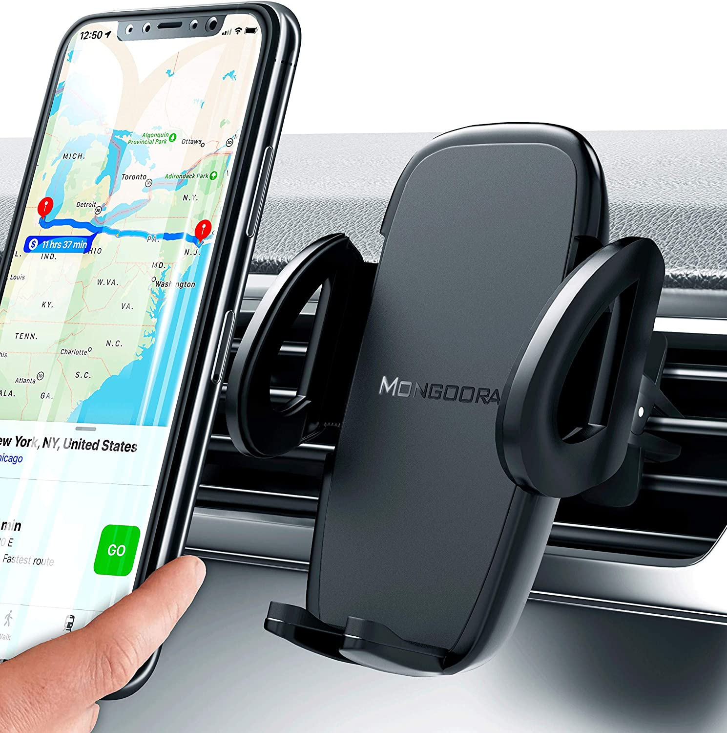 Gravity Car Cell Phone Holder for Car Galaxy Note 10//S10//S9 Auto Clamping Universal Phone Mount 360/°Rotation Car Phone Cradle Mount for iPhone 11 Pro Max//Xs//XR//X//8 PaiTree Air Vent Phone Mount