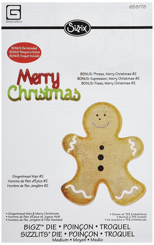 Amazon.com: Sizzix Bigz with Bonus Sizzlits Die - Gingerbread Man ...
