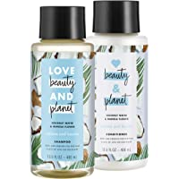 Love Beauty and Planet Volume and Bounty Shampoo and Conditioner, Coconut Water & Mimosa Flower, 13.5 oz, 2 count