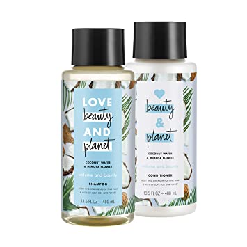Love Beauty And Planet Volumizing Shampoo and Conditioner, Paraben Free,  Silicone