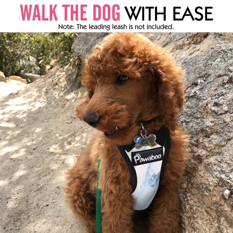 Pawaboo Safety Dog Weste Geschirr mit Auto Sicherheitsgurte Verstellbarer Hundegeschirr Reisegurt f/ür Autosicherheitsgurte mit Bleiklammer und Karabiner