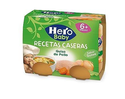 Hero Baby Potito Guiso con Pollo, 6m+ - Pack de 2 x 190 g -