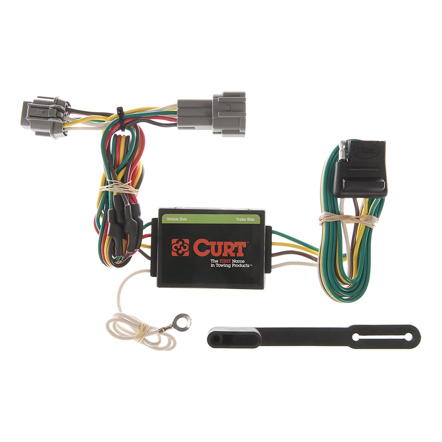 curt 55362 vehicle side custom 4 pin trailer wiring harness for select nissan frontier, quest, mercury villager Nissan Frontier Trailer Plug
