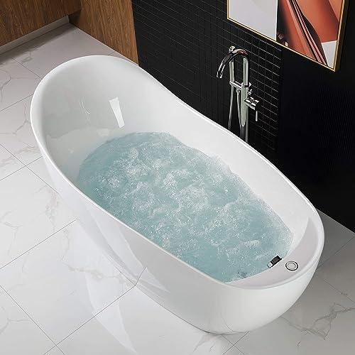 Woodbridge BTS1610/B0033 67″ Air Bubble Freestanding Bathtub