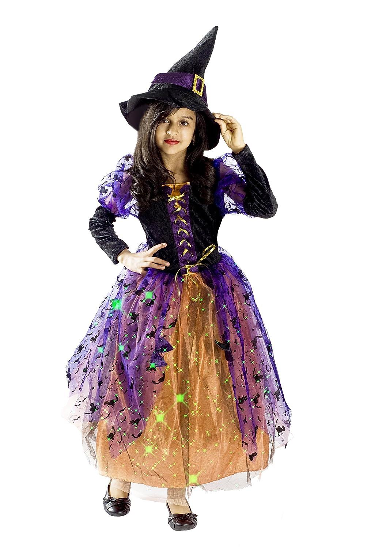 6141f31a5bd6f Amazon.com: MONIKA FASHION WORLD Witch Halloween Costume Girls M (6-8):  Toys & Games
