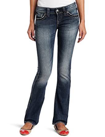 Amazon.com: Silver Jeans Women's Mckenzie Bootcut Jean, Light Blue ...