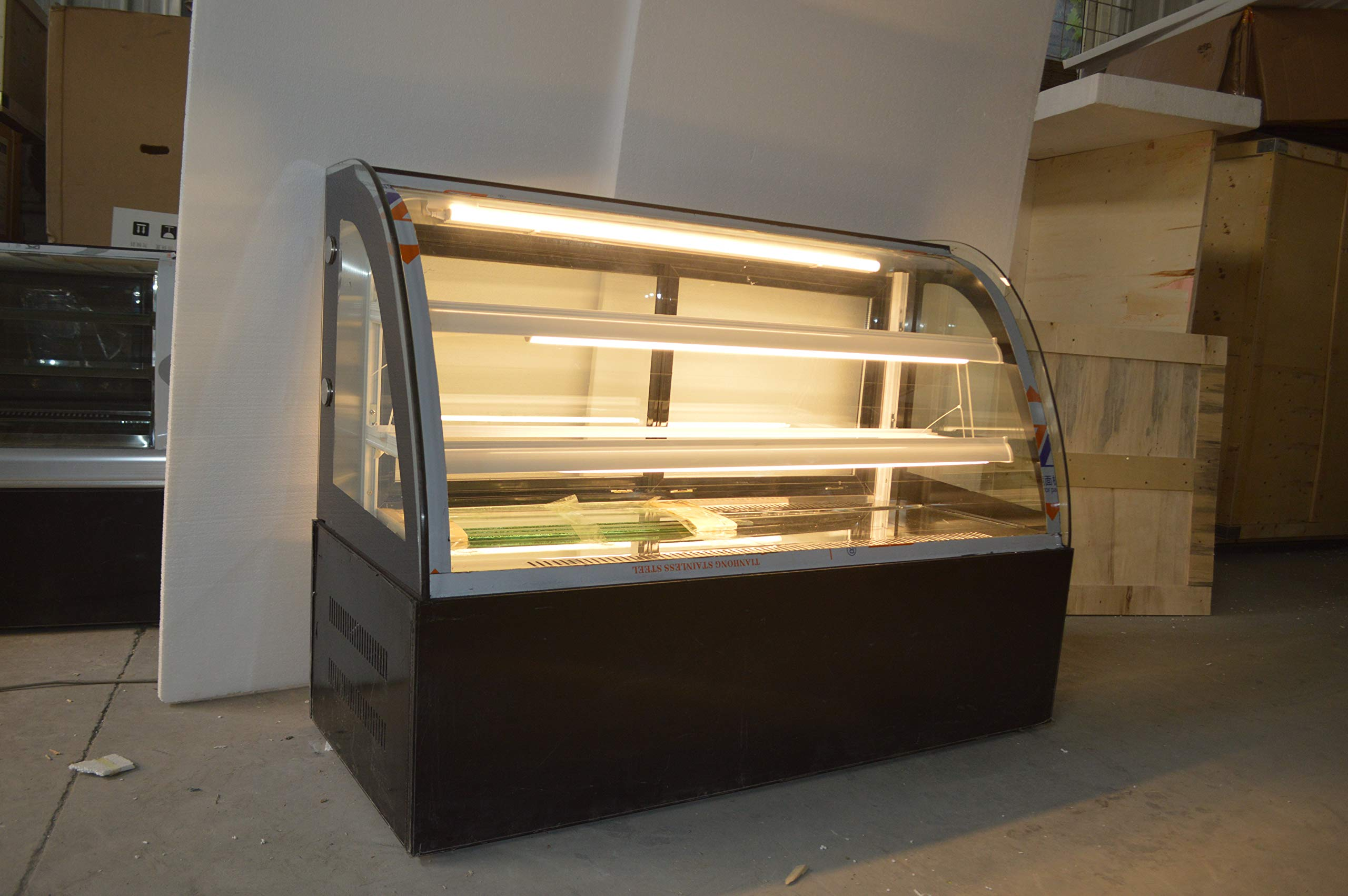 INTBUYING 47'' Countertop Bekery Cabinet Display Case Glass Refrigerated Cake Showcase 220V 315W 36-46F by INTBUYING (Image #5)