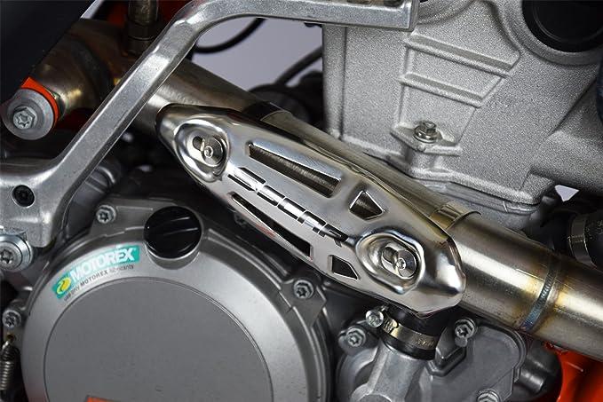 Universal HITZESCHUTZ EDELSTAHL 4 TAKT Kr/ümmer SX-F EXC-F EXC SMR 250 350 450 530 SCAR