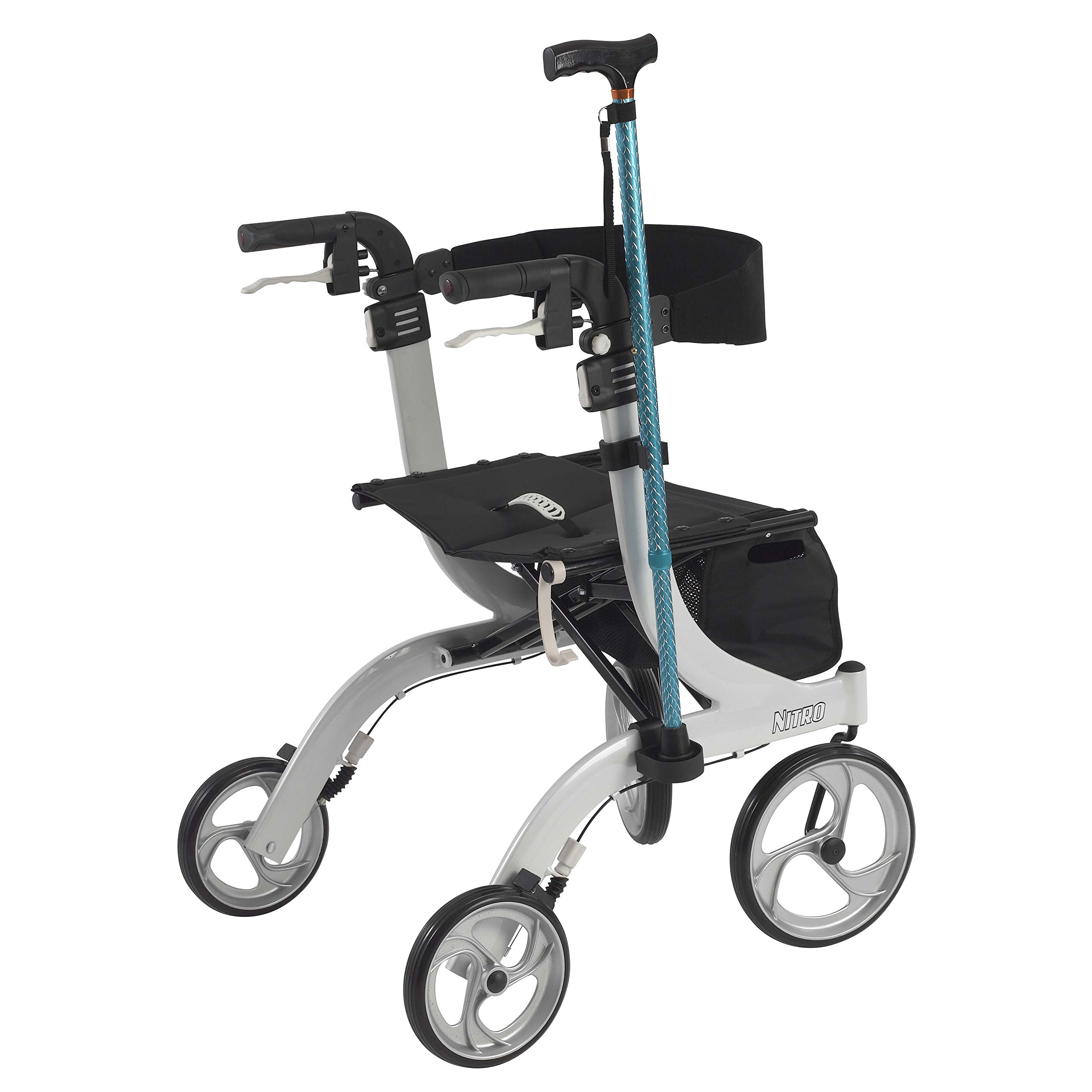 Drive Medical Nitro Rollator Cane Holder, Black by Drive Medical