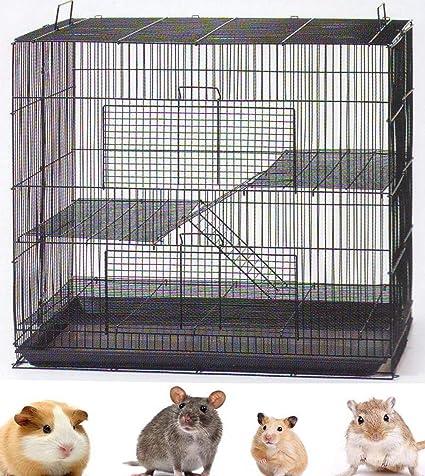Amazon.com: Jaula de 3 niveles para animales (ratas ...