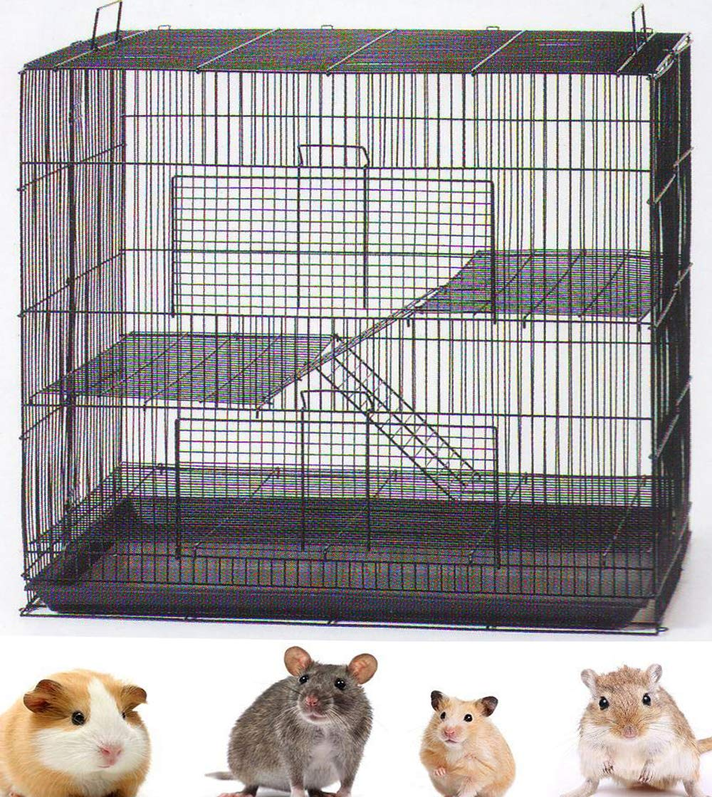 Mcage New 3 Levels Ferret Chinchilla Sugar Glider Rats Animal Cage 24'' L x 16'' W x 24'' H with Tight 3/8-Inch Bar Spacing by Mcage