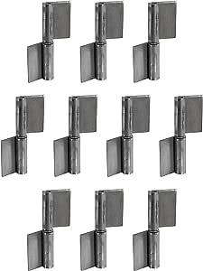 Bisagra para puerta de soldadura Gedotec - metálica | Altura=100 mm | DIN a la Izquierda | Bisagra robusta para portón de jardín y maquinaria | bisagra para puertas de