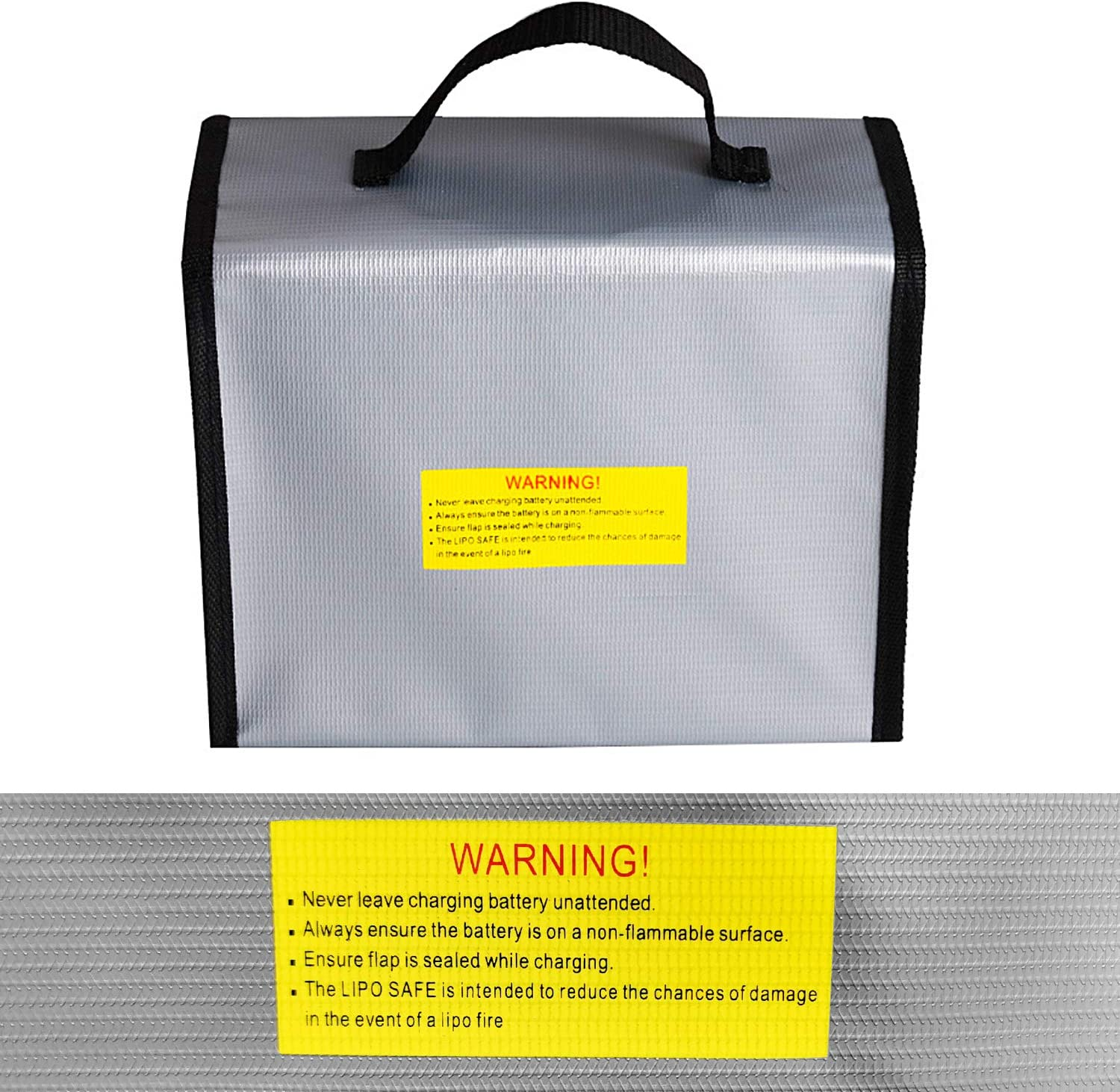 Wandefol Lipo Battery Guard Bag Fireproof Explosionproof Pouch Sack for Charge /& Storage with Handle 215x155x115mm