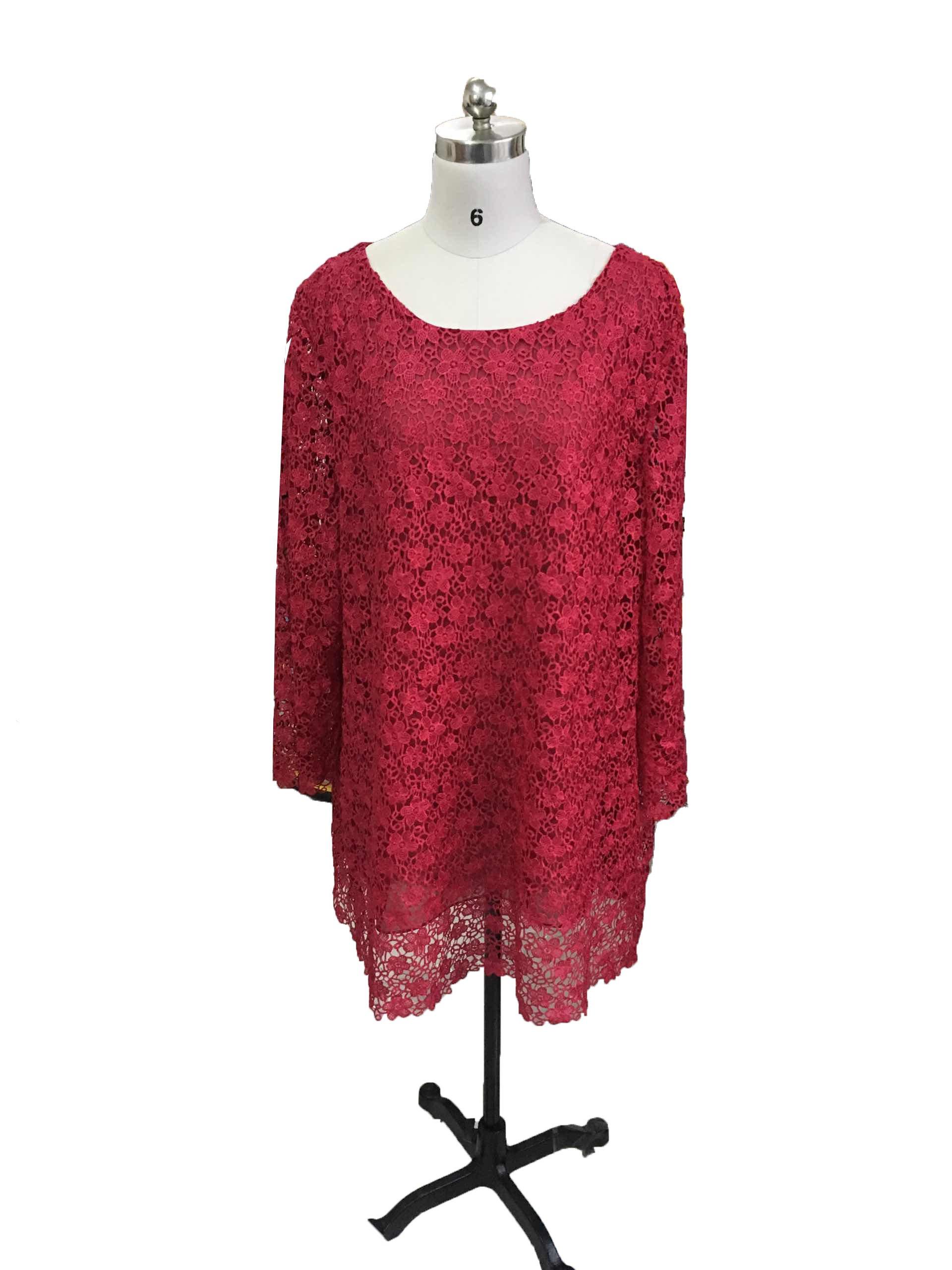Dislax Two Piece Lace Mother of Bride Pants Suit Burgundy US 20plus
