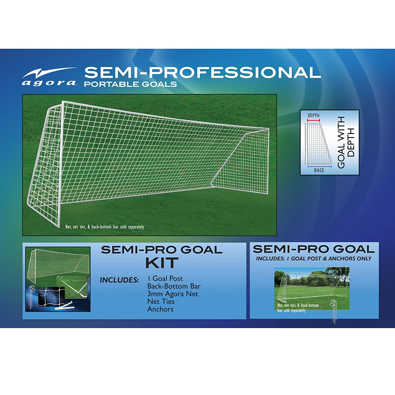 Amazon AGORA 8 x24 Semi Pro Full Size Portable Soccer Goal