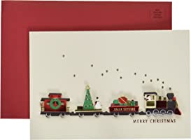 Hallmark Signature Greeting Christmas Card (Christmas Train)