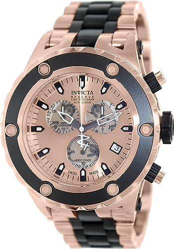 Amazon Com Invicta 80513 Men S Subaqua Chronograph Rose Gold Dial Two Tone Steel Dive Watch Invicta Watches