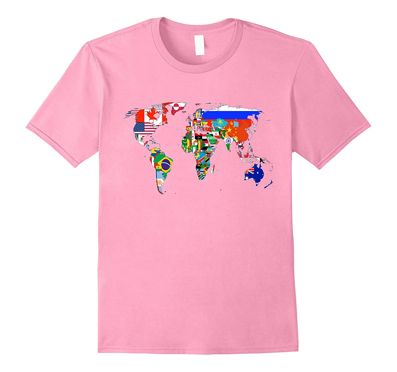 World Map Country Flag Atlas T-Shirt-FL