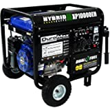 DuroMax XP10000EH, 8000 Running Watts/10000 Starting Watts, Dual Fuel Powered Portable Generator