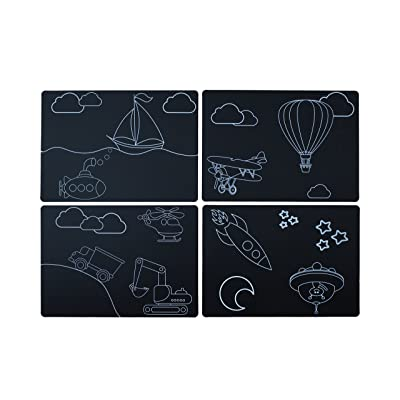 "Imagination Starters 8.5"" x 12"" Themed Chalkboard Placemats - Set of 4 (Transportation): Toys & Games"