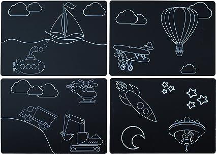 Transportation Imagination Starters 8.5 x 12 Themed Chalkboard Placemats Set of 4