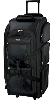 055d97c8e621 Travelers Club Luggage Adventure 30 Inch Rolling Multi-Pocket Upright Duffel
