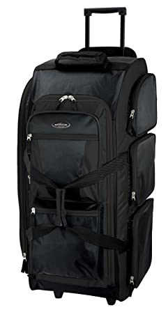 0c4f5c6e2d3e Amazon.com  Travelers Club Luggage Adventure 30 Inch Rolling Multi-Pocket  Upright Duffel