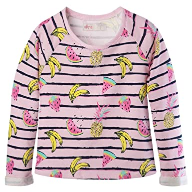 OFFCORSS Big Girls Colorful Round Neck Sweater for Teens Camiseta Niñas Pink 4