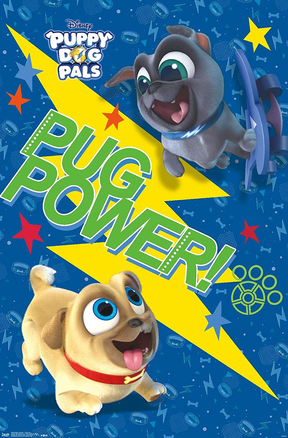 Amazon Com Trends International Disney Puppy Dog Pals Pug Power Wall Poster 22 375 X 34 Premium Unframed Version Posters Prints