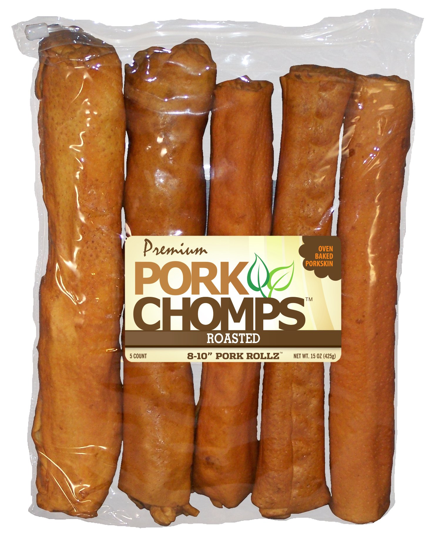 Scott Pet Products 5 Count Pork Chomps Roasted Rollz Treat, 8-10''