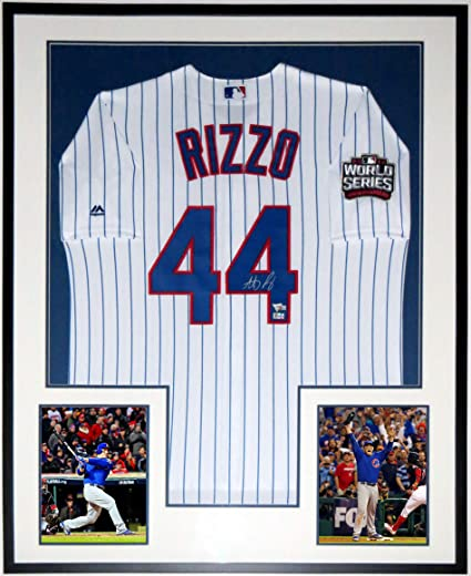 huge discount 50370 43eeb ANTHONY RIZZO SIGNED 2016 WORLD SERIES MAJESTIC CUBS JERSEY ...