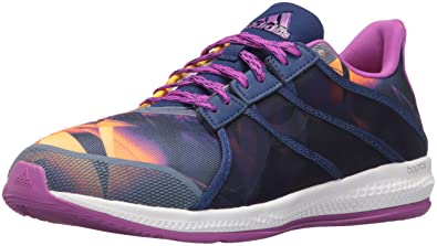 adidas Performance Women's Gymbreaker Bounce Cross-Trainer Shoe, Shock  Purple Solar Gold/White