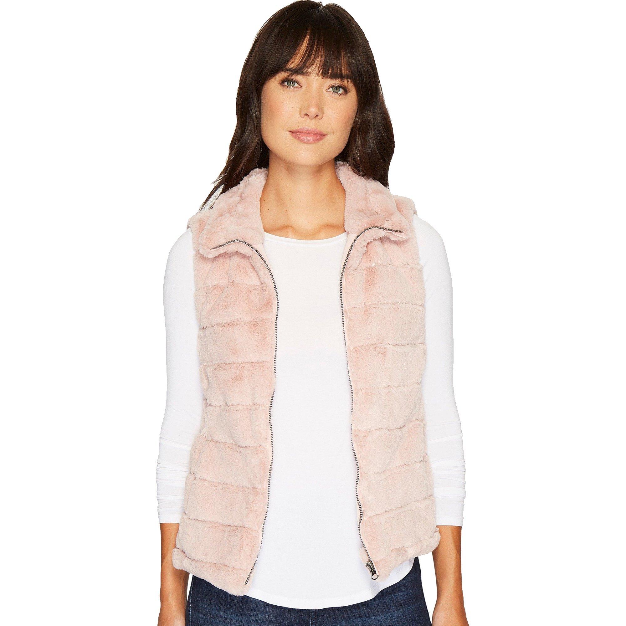 Dylan by True Grit Women's Faux Fur Love Vest Pale Pink Medium