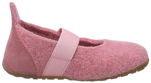 Bisgaard Unisex-Kinder Wool Velcro Slipper, Pink (91 Rosa), 36 EU